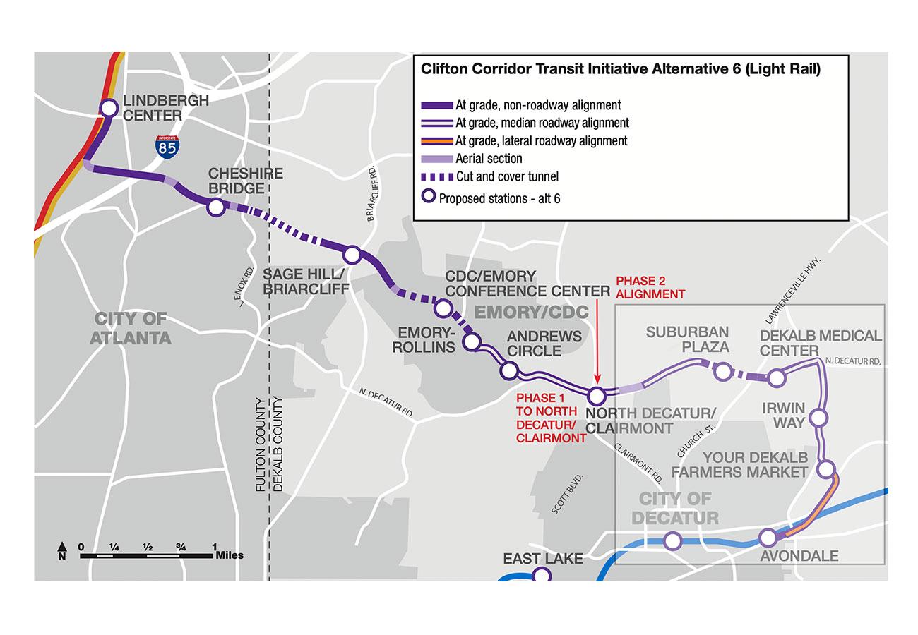 Clifton-corridor-transit initiative map